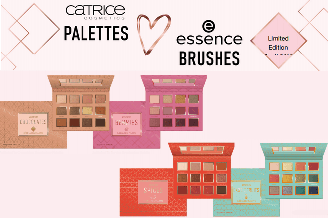 catrice palettes love essence brushes