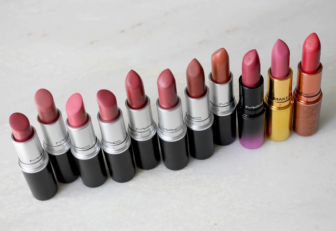 MAC lipsticks nudes